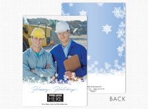 Off the Script Flat Holiday Photo Cards